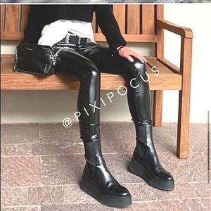 Zara NWT Platform Ankle Boots Sz 39/8